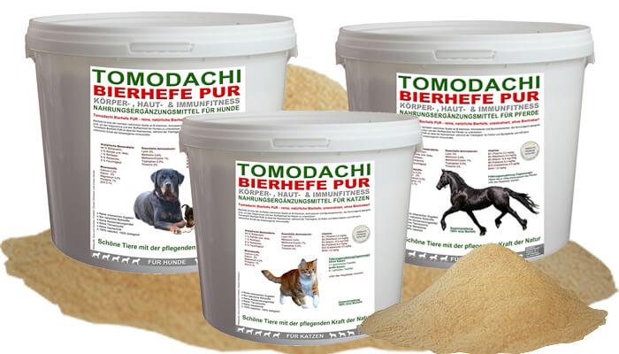 Tomodachi Reine Bierhefe für Hunde, Katzen, Pferde und Kleintiere für vitale und schöne Tiere mit der Kraft der Natur
