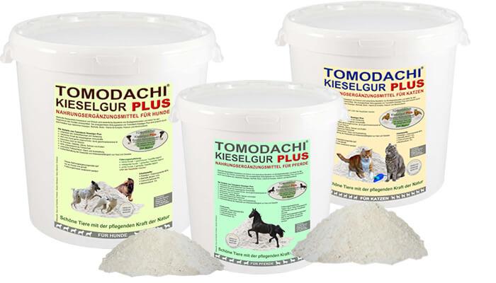 Natürliche Kieselerde Plus Biotin - Naturprodukt von Tomodachi, Nahrungsergänzungsmittel für Pferde, Katzen, Hunde und Kleintiere