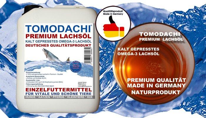 Lachsöl für Hunde, Katzen, Pferde und Kleintiere, Omega 3 Lachsöl kalt gepresst, ideal für Haut und Fell, Verdauung, Stoffwechsel und Immunsystem bei Haustieren