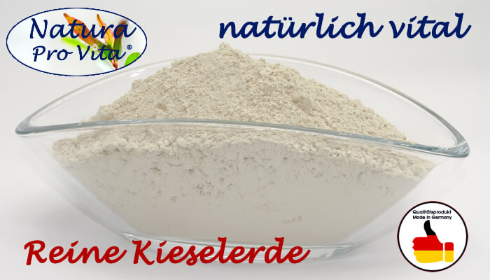 Natura Pro Vita Reine Natürliche Kieselerde  - Naturprodukt  Nahrungsergänzungsmittel für Pferde, Katzen, Hunde und Kleintiere