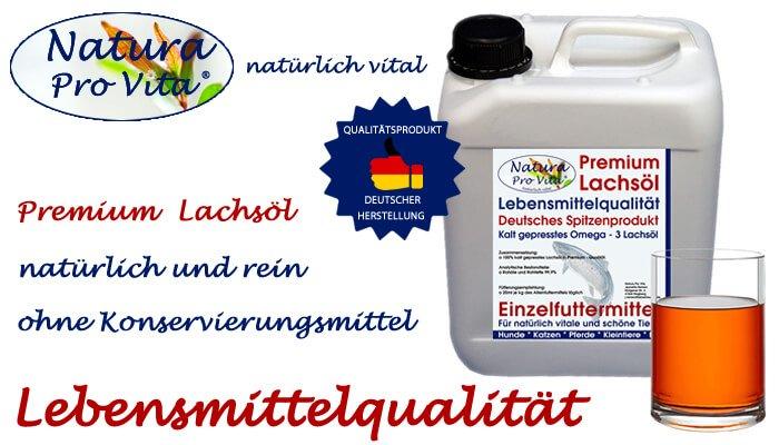 Premium Lachsöl in Lebensmittelqualität - Gesunde Frische für Mensch und Tier von Natura Pro Vita