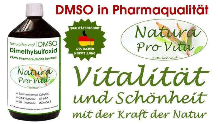 DMSO in Pharmaqualität von NaturaProVita - hochwirksame Transportsubstanz
