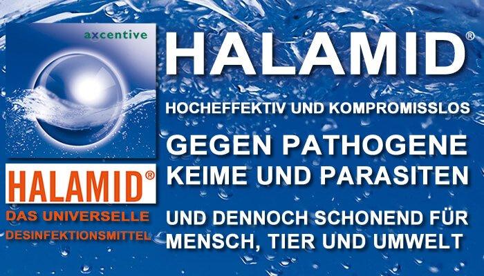 Halamid wirkt nicht nur gegen Giardien bei Katze und Hund oder Kryptosporidien, sondern auch gegen Viren und Bakterien im Haushalt. Vergessen Sie teure Desinfektionsmittel - mit Halamid können Sie preiswerter Ihr Haus klinisch rein machen.