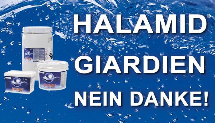 Halamid wirkt effektiv gegen Giardien bei Katzen und Hunden. Sie können das Halamid Spray gegen Giardien preisgünstig im Tomodachi Haustiershop kaufen