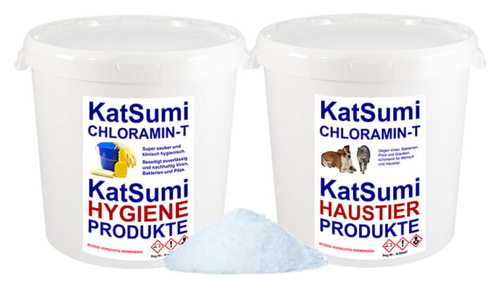 Katsumi Chloramin-T ist ein hochmodernes Desinfektionsmittel, das Giardien bei Hund und Katze sowie Kryptosporidien blitzschnell aus Ihrem Haus verbannt. Kaufen Sie Katsumi Chloramin-T preiswert im Tomodachi Haustiershop