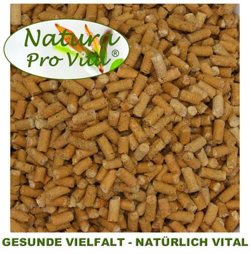 Natura Pro Vita Möhrenpellets - reines Naturprodukt ohne Chemie - gesundes, vitaminreiches, kalorienarmes Ergänzungsfutter für Pferde, Hunde, Katzen und Nager - wertvolle Futterergänzung für unsere Haustiere, Natur Pur.