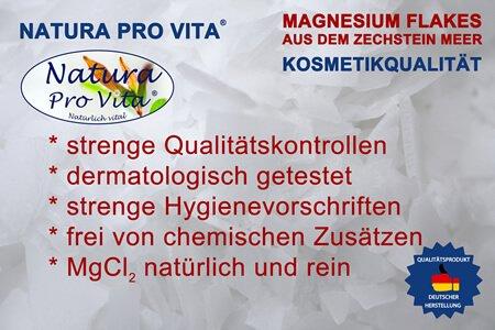 Natura Pro Vita original Zechsteiner Magnesiumflakes sind perfekt geeignet als Badesalz, ideal für die Wellness und Massage für uns und unsere Haustiere.